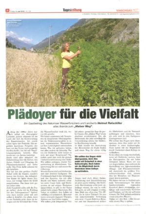 "Artikel Tageszeitung ""Malser Weg"""
